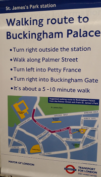 Walking route from St James Station